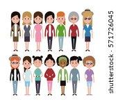 group women ethnicity variety...   Shutterstock .eps vector #571726045