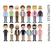 group men multi cultural fashion | Shutterstock .eps vector #571726075