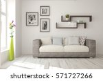 white room with sofa.... | Shutterstock . vector #571727266