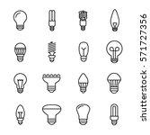 set of light bulb icons in... | Shutterstock .eps vector #571727356