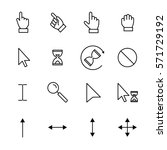 set of cursor icons in modern... | Shutterstock .eps vector #571729192