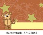 monkey cartoon background in... | Shutterstock .eps vector #57173065