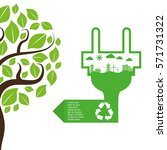 ecology and energy care icon... | Shutterstock .eps vector #571731322