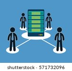 database optimization people... | Shutterstock .eps vector #571732096