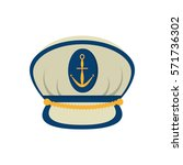 marine cap captain board with... | Shutterstock .eps vector #571736302