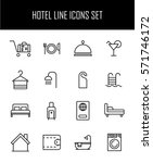 set of hotel icons in modern... | Shutterstock .eps vector #571746172