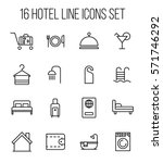 set of hotel icons in modern... | Shutterstock .eps vector #571746292