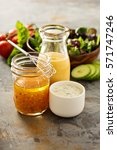 variety of homemade sauces and... | Shutterstock . vector #571747246