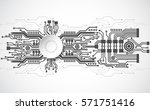 abstract technological... | Shutterstock .eps vector #571751416