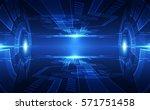 abstract digital technology... | Shutterstock .eps vector #571751458
