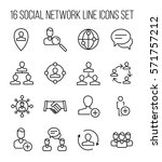 set of social network icons in... | Shutterstock .eps vector #571757212