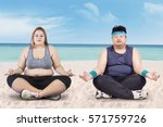Image Of Obese Young Woman And...