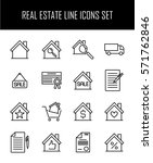 set of real estate icons in... | Shutterstock .eps vector #571762846