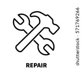repair icon or logo in modern...