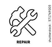 repair icon or logo in modern...