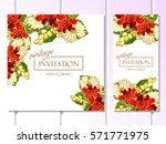 vintage delicate invitation... | Shutterstock . vector #571771975