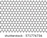 Black And White Hexagon...