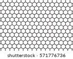 Black And White Hexagon...