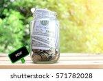rent words on blackboard with... | Shutterstock . vector #571782028