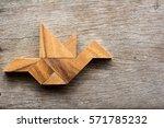 wooden tangram puzzle in bird...   Shutterstock . vector #571785232