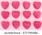Pattern Of Candy Heart Shape O...