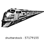 passenger train   retro clip art | Shutterstock .eps vector #57179155