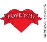happy valentine's day heart icon | Shutterstock .eps vector #571794376