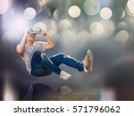 visual reality concept.young... | Shutterstock . vector #571796062