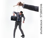 Businessman Puppet Isolated On...