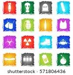 war symbols vector web icons in ... | Shutterstock .eps vector #571806436