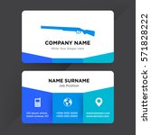 template of business card for... | Shutterstock .eps vector #571828222