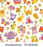 Stock vector seamless baby background 57183034