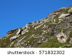 dramatic rock features on the... | Shutterstock . vector #571832302