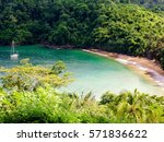 englishman's bay is a secluded... | Shutterstock . vector #571836622