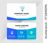 template of business card for... | Shutterstock .eps vector #571840096