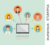 people with communication... | Shutterstock .eps vector #571845916