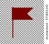 flag sign illustration. maroon...
