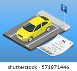 isometric vector illustration... | Shutterstock .eps vector #571871446