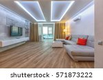 contemporary spacious living... | Shutterstock . vector #571873222