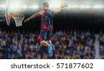 basketball player scoring an...   Shutterstock . vector #571877602