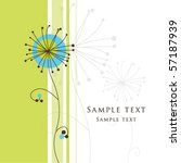 greeting card with copy space | Shutterstock .eps vector #57187939