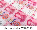 Chinese Currency  Closeup Of...