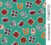 pattern of casino icons for...