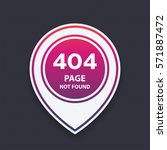 404 page not found  vector...