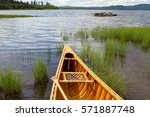 Hand Crafted Wooden Canoe...