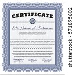blue sample certificate. vector ... | Shutterstock .eps vector #571895602