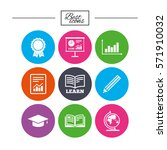 education and study icon.... | Shutterstock .eps vector #571910032