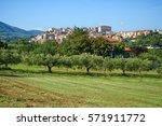 velletri italian village... | Shutterstock . vector #571911772