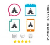 tourist tent sign icon. camping ... | Shutterstock .eps vector #571912888