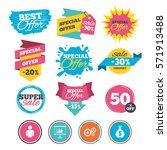 sale banners  online web...   Shutterstock .eps vector #571913488